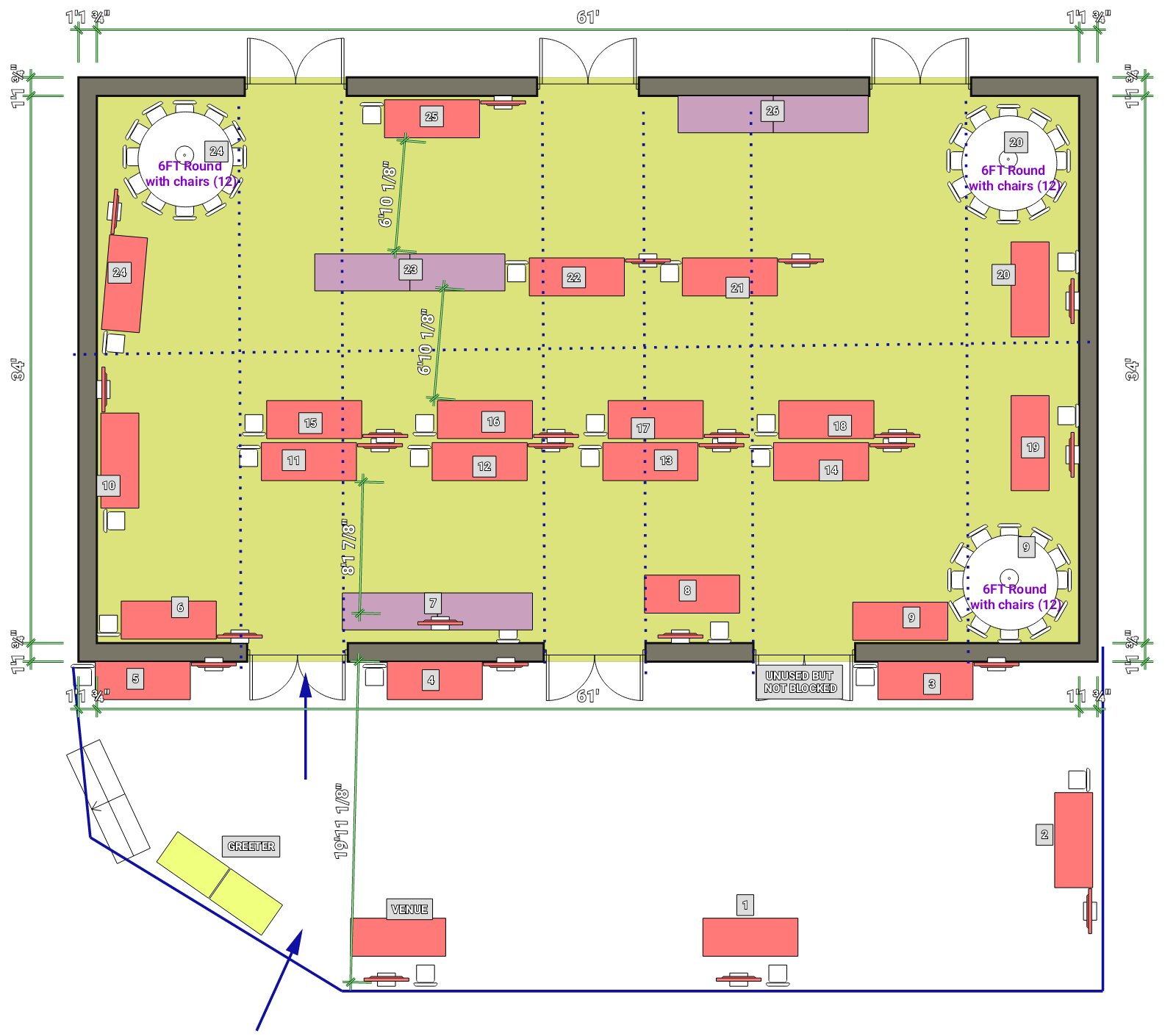 Jury's Inn 26 Stands plan