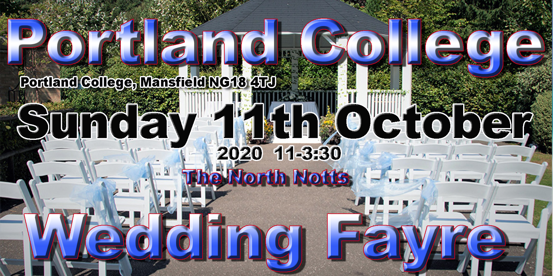 portland college mansfield wedding fayre 2020 3x6 colour