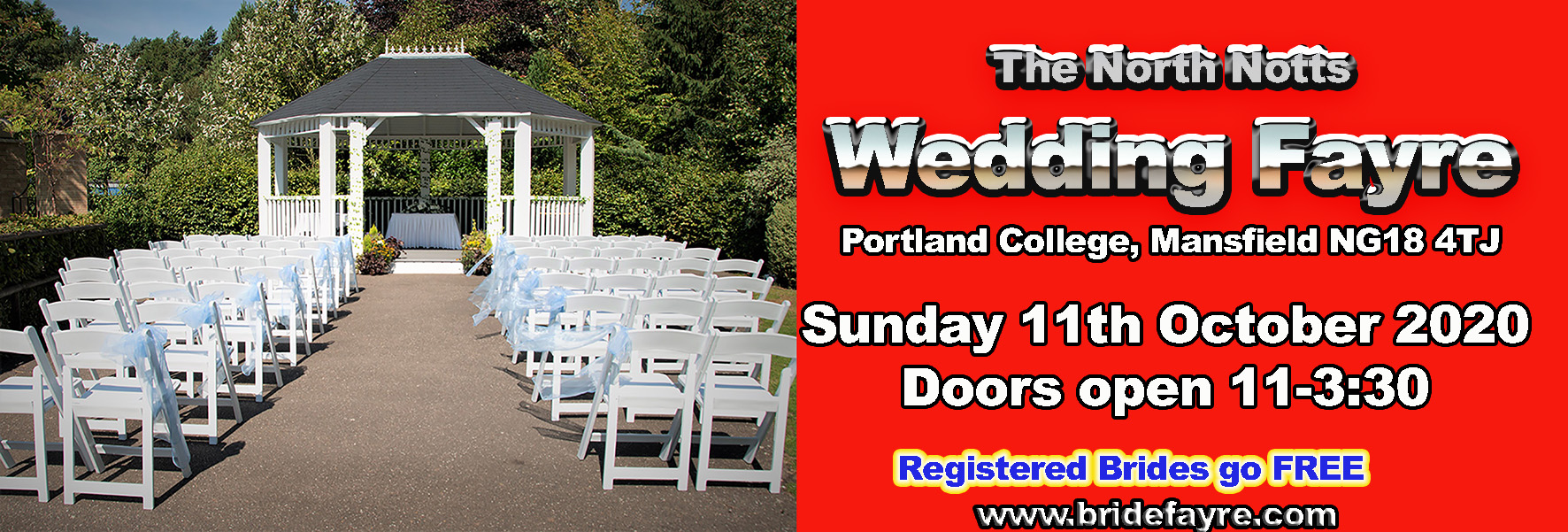 portland college wedding fayre 2x6 small banner